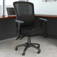 This task chair offers a high-quality seating solution at an affordable price. Customization features include a convenient lever that instantly adjusts the chair's height to accommodate taller or shorter users, a chair back and lumbar support that raise and lower independently of each other, and a knob underneath the seat that turns to change the amount of tension felt when leaning back. The height, width, depth, and angle of the armrests can also be quickly adjusted to meet your own ergonomic...