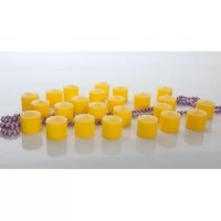 Immerse yourself in the tranquility of the Light In the Dark Citronella Votive Candles (set of 72). Perfect for any room in the house. They feature a distinctive citrus smell that helps create a relaxing ambiance. The bright yellow hue and functional size make them apt for any enclosed space.  The Citronella Votive Candles (Set of 72) by Light In the Dark have a compact and sturdy shape. Made from hand-poured paraffin wax, they have a soothing citronella fragrance that is helpful in creating a...
