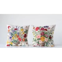 This Kerfoot with Embroidered Flowers Throw Pillow is a brilliant and easy way to change the look of a couch, chair or any furniture piece in your home or office. It is a great way to add some personality and depth to your living space. Add a designer pillow for a sophisticated look or a splash of color to brighten your room. To add a touch of fun to your home decor, add a pillow with images or lettering.