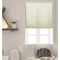 An essential for windows in the bedroom, den, and other areas of your abode. Bloomsbury Market Honeycomb Semi-Sheer Cream Cellular Shade helps give a warm glow to the room. Crafted of natural fabrics that help darken your ensemble, it offers a honeycomb construction with a solid hue that blends right in with most aesthetics. Cordless design makes it a little more minimal, perfect for keeping pets and small children from tampering or getting caught in a hanging cord. Please note that this is not...
