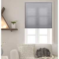 An essential for windows in the bedroom, den, and other areas of your abode. This Honeycomb Semi-Sheer Gray Cellular Shade helps give a warm glow to the room. Crafted of natural fabrics that help darken your ensemble, it offers a honeycomb construction with a solid hue that blends right in with most aesthetics. Cordless design makes it a little more minimal, perfect for keeping pets and small children from tampering or getting caught in a hanging cord. Please note that this is not meant to be...