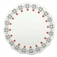 Show your charm with this dinner plate. It combines an eye-catching charming look with vintage colors and beautiful modern shapes to accentuate any setting with a hefty serving of character.