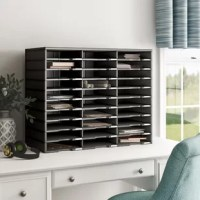 Bring order to your home or office clutter. The polystyrene construction allows for a durable yet lightweight organizer that can hold a combined weight of 150 lbs. Built-in label holders ensure a professional appearance and functional use. If 30 compartments aren't enough, the literature organizer can be stacked up to 6 units high.
