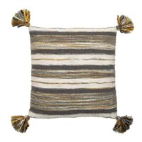 The Knouse Handwoven Cotton Throw Pillow is a brilliant and easy way to change the look of a couch, chair or any furniture piece in your home or office. It is a great way to add some personality and depth to your living space. Add a designer pillow for a sophisticated look or a splash of color to brighten your room. To add a touch of fun to your home decor, add a pillow with images or lettering.
