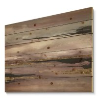 Alas, a modern take on wood wall art. Once typically a wall art piece found only in rustic or farmhouse style decor settings, this wooden wall art will easily fit into even the most contemporary of designs. Using the highest quality 6 color canon UV ink, this wall art incorporates several aspects of fine design into one stunning piece. With its slightly visible wood grain appearing through the colors and sleekly finished edges, it is a wonderful choice for any room in your home or office, being...