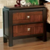 With acacia front panels, this product is accented with square chrome knobs that complement a transitional, double deck top design. Elegantly styled this nightstand will instantly glamorize your interior.