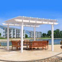Complete your outdoor dream room when you add the premium Santorini 10 Ft. W x 10 Ft. D Vinyl Pergola. Equipped with a lifetime warranty aluminum interior, you won't have to go purchase your own structural reinforcements to fit inside the lifetime warranty vinyl sleeves. This engineered pergola system has been designed to last and is simple enough for a DIY installation.