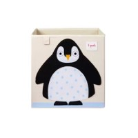 The Penguin Storage Fabric Cube is the perfect organizational tool for any room. With sides reinforced with cardboard, their storage box stands at attention at all times. Made to fit almost all cubby hole shelving units, it adds a pop of fun to every room. Whether standing alone or placed in a cubby hole.