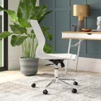 Give yourself the freedom to slide, swivel, and tilt as you tackle your to-do list with this versatile office chair. Founded atop caster wheels for must-have mobility, this piece is crafted with a sleek aluminum frame that adjusts in seat height between 19