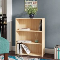 Give well-thumbed novels a place to call home or store essential office supplies with this versatile bookcase, featuring three fixed shelves. Crafted from manufactured wood, this budget-friendly piece measures just 31.5'' H x 23.6'' W x 9.4'' D, so it's an ideal option for smaller spaces. A neutral finish helps it blend with a variety of color palettes and aesthetics. The manufacturer backs this product with a one-year warranty.