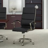 With an elegant design and a variety of color options to choose from, the Series C High Back Genuine Leather Conference Chair is the perfect seating solution to reflect your personal style. The cushioned bonded leather upholstery provides top-notch comfort with a sophisticated appearance that works well in any professional environment. This desk chair features a tilt mechanism that can be customized by turning a knob underneath the seat to increase or decrease the amount of tension felt while...