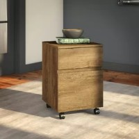 The 2-Drawer Mobile Vertical Filing Cabinet organizes the home or professional space while expressing your uniquely fashionable tastes.