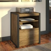 The printer stand 1-drawer vertical filing cabinet organizes the home or professional space while expressing your uniquely fashionable tastes.
