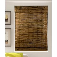 Bring breezy style and privacy to any space with this Roman shade, a semi-sheer piece that still lets in some natural light into your room for a bright feel. Crafted from bamboo, this design is dotted with woven details for a textured and tropical touch. Neutral brown hues allow this shade to blend with a variety of color palettes and aesthetics. With a cordless design, this shade is a safe option for homes with pets or young children.