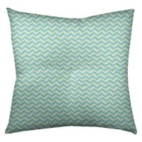 This Pastel Chevrons Square Tufted Floor Pillow is double-sided print- textured poly