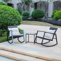 This Tadeo 3 Piece Seating Group with Cushions is the perfect addition to your outdoor living space. The matching end table is ideal for resting a beverage or holding reading material. It is easy to clean by simply spraying down this easy-care set with a garden hose to keep it clean.
