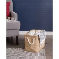 Take back your space with this Rectangle Variegated Fabric Bin. The variegated storage bin is a fun and creative way to organize and store toys, clothes, blankets, towels, books, knick-knacks, and more. Tired of clutter in the kid's room, living room, or laundry room? The storage container could be the perfect solution to organize the clutter while enhancing your home's décor. Sturdily constructed the storage bin is up to the task of being carried to-and-fro, used to transport groceries...