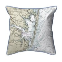 This versatile Fenwick Island to Chincoteague Inlet VA Corded Indoor/Outdoor Throw Pillow is equally at home enhancing an interior design or adding life to an outdoor setting. It features printed outdoor, fade resistant fabric for years of wear and enjoyment.