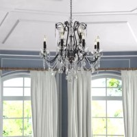 Thao 12 - Light Candle Style Classic / Traditional Chandelier with Crystal Accents