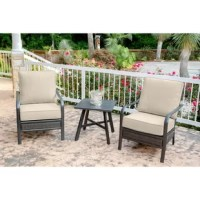 This 3 Piece Seating Group Rattan with Sunbrella Cushions helps bring paradise closer to home with its all-weather construction, impeccable detail, and sophisticated style-suitable for any 5-star resort. Each item in the collection is made with a solid foundation, using rustproof aluminum frames in an all-weather gunmetal finish and a handwoven resin weave, designed to withstand the test of time. All cushions are made with thick layers of foam wrapped in premium Sunbrella fabric. The foam...