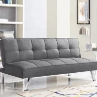 The simplicity of the Corwin sofa convertible is a dynamic sofa to coordinate in any style of home. This sofa is multi-functional, converting into a lounger or a bed for your guests. Corwin was designed with our patented finger guard mechanism for your finger safety. Relax with ultimate comfort on this Serta sofa with added high-density foam, webbing within the cushions and pocket coils. The fully-upholstered Corwin is sure to blend into any home décor with button-tufted high-quality fabric...
