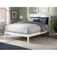 Setting the stage for your sleep scape and defining the overall aesthetic in your master suite or guest bedroom, bed frames are a must-have in any abode. Made from solid wood, this platform bed frame boasts a neutral color and showcases a clean-lined headboard for leaning against when fitting in a little light reading before lights out.