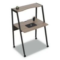 The Flexible Writing Desk with minimalist 2-tier design complements contemporary, modern and traditional decors. Ideal for home offices, dorms, lofts or wherever space is at a premium. Top shelf provides extra storage space, durable steel frame, casters for mobility. No tools required for assembly.