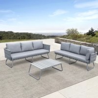 Triple color seating option ideally made for your outdoor decor. Weaving in a stylish diamond pattern made of resin wicker withstands elements of all-weather that feature a long-lasting new look and durable in use. Powder-coated aluminum frame resistant to rust and lightweight to move at ease. Stain-resistant fabric easy for cleaning that endows low-maintenance.