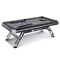 The MD Sports Titan Pool Table at 7.5 feet long is the ideal large size for indoor play with adults or teens; good for a rec or game room in your home for big-time family fun. Have the best time with your friends and family shooting pool and playing other billiard games; grab a cue, stick, and ball to begin making memories at home with your huge new game table.