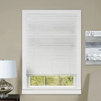 This Mini Room Darkening Horizontal/Venetian Blind provides both room darkening and privacy. It is made from heavyweight PVC with additional slats for tighter closure. The modern style features a round sleek headrail that offers a classic and chic appearance.