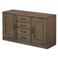 This lateral filing cabinet is crafted from FSC certified red oak veneer, engineered wood. English dovetail drawer construction and full extension ball bearing drawer glides create functional storage that will endure. The locking file drawer accommodates legal or letter-sized files.