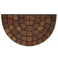 This doormat is built to withstand all seasons and weather conditions. The luxurious, deep raised grooves can be used to remove debris and dirt from your shoes.