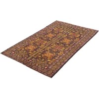This area rug is handmade with an extra high pile and very simple, stylized design. It is tightly woven from handspun wool and vegetal dyes, which give it a typical rich texture. It is perfect to add a great look to your decor.