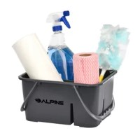 The perfect solution for your light, daily cleaning tasks in your restaurant, commercial office, or healthcare facility. Equipped with 4 variously sized compartments to organize your cleaning tools, this item is lightweight, and easy to carry with 2 handles. Convenient for daily use and compact design for easy storage.