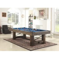 The standard pool table is part of the Fairfield Collection of game tables by Playcraft. The pool table's post and beam leg design, artisan joinery and hand finishing are inspired by old world styling and craftsmanship. Offered in Weathered Bark or Weathered Raven that appears to have been reclaimed from a century-old countryside barn, the standard pool table is certain to make a statement. More than just beautiful furniture, high-quality materials and construction will ensure many years of...