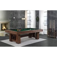 This pool table rustic timber frame design, artisan joinery and hand finishing is inspired by old world styling and craftsmanship. More than just beautiful furniture, high-quality materials and construction will ensure many years of billiards with family and friends.