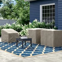 When it comes to keeping your outdoor furniture safe, this three-piece cover set is a must. Designed to take on the elements, it is crafted from weather-resistant polypropylene that stands up to bright UV rays shining down and summer rainstorms rolling through. Ties along the bottom assure that these covers stay secured on your alfresco pieces. Plus, they're easy to clean – just wash with soap and water. This set includes: one armless sofa cover and two corner sofa covers.