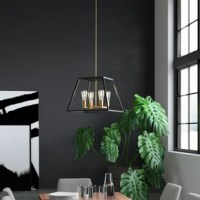 Defined by its clean lines and open design, this four-light square/rectangle chandelier brings a dash of contemporary style as it illuminates your entryway, dining room, or kitchen island. This luminary is crafted of metal, in a two-tone finish of oil rubbed bronze and gold. It accommodates four medium-base lightbulbs of up to 60 W each (bulbs not included).