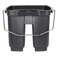 Great way to add efficiency and convenience to your cleaning process. Designed with durability in mind, this heavy-duty plastic bucket can withstand day to day use in any restaurant or busy commercial setting. With divided compartments and easy to lift metal handle, this bucket is the perfect addition to your cleaning supplies.