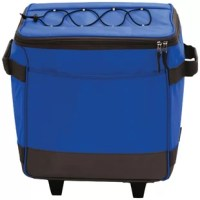 Keep drinks cool at the beach, sporting event, camping and much more with the Rolling Soft Sided Cooler. This lightweight, rolling cooler bag is functional and convenient, making it easy to take food and drink with you on your next trip. This rolling cooler features an extendable handle, making it super-easy to transport. The leak proof, heat sealed microbial liner keeps drinks and food safe.