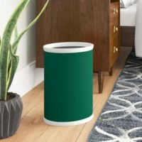 The Oval Waste Basket is constructed of metal. This basket is ideal for all types of rooms and holds a large capacity of waste. Covered in deluxe vinyl, this waste basket will brighten any room.
