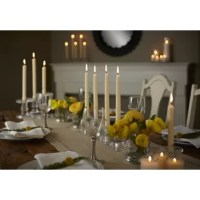 Enjoy the simplicity of an unscented, fragrance free candle. Colonial Candle Handipt Unscented Taper Candles are an excellent addition to an elegant dining experience. Made from the highest quality wax, the Handipt Unscented Taper Candle ensures a smooth, clean burning, virtually drip-less candle that burns slowly and evenly.