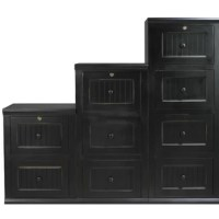 This filing cabinet fits today's casual lifestyle. Recessed doors, bead board panels, and solid wood moldings provide a clean, contemporary style that is complemented by a choice of painted or rich stained finishes.