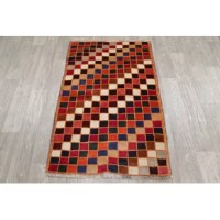 Enjoy the uniqueness of this authentic one of a kind rug. Made with 100% wool, this genuine area rug is hand knotted by skillful weavers in Persia. This rug is in Very Good condition. Dimensions are 4' 4
