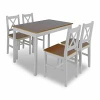Belz 5 Piece Solid Wood Dining Set