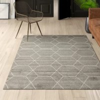 Floors are often forgotten when it comes to decorating your home, but that's when rugs come in handy! A rug adds an extra layer of depth and personal style to your space. They can even act as a focal point in an entryway, bedroom, or beneath a seating arrangement. This one, for example, features a geometric pattern, perfect for a contemporary aesthetic.