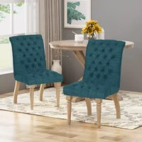 Brighten your indoor atmosphere in vintage charm with the diamond stitch dining chair. Its distressed frame and button tufted seating not only offers stability but it also blends with most décor. From exquisitely carved legs to its gently curved design, this dining chair will instantly uplift the ambiance of your kitchen or dining room with a touch of elegance. With just simple addition, this dining chair will transform your décor into a masterpiece that is worthy of the most sophisticated.