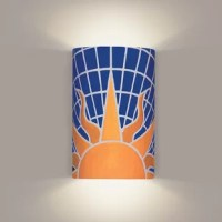 Celebrate the power of the sun with our bright, graphic Solar wall sconce. Even the cobalt blue sky is shining in the warmth of this sun''''s rays. Salute the sun, indoors or out.