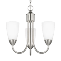 This chandelier supplies ample lighting for your daily needs while adding a layer of today's style to your home's decor.