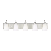 This Jaylene 5-Light Vanity Light provides abundant light for your bath vanity while adding a layer of today's style to your interior design.